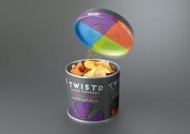 缤纷多彩美味的TWISTD薯片-使其更容易混搭的味道,可以不同寻常的搭配小吃和风味