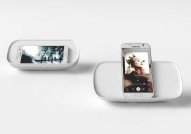 Tilt-无线充电器和扬声器-让您享受各种便捷,听歌时同时充电你的智能手机
