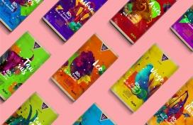 丰富多彩概念巧克力包装