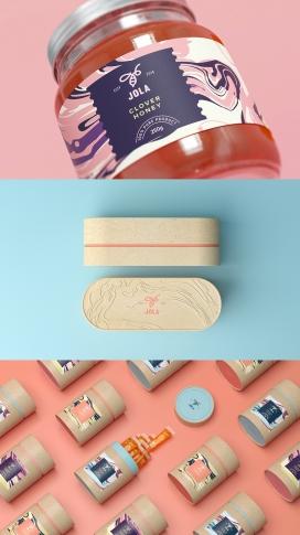 乌克兰迷人的JOLA蜂蜜包装设计欣赏