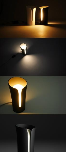 独特的3D印刷材料灯
