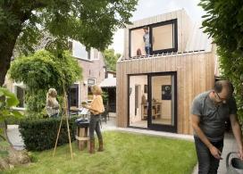 荷兰19平米的绘画工作室后院建筑