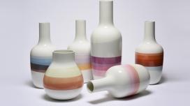 法国文艺复兴绘画历史的艺术品花瓶和盘子收藏-丰富多彩的组成,具有柔和的色调和梯度