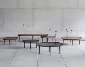 菲奥里手工木桌-大胆的设计和功能设计,将经典的木制餐桌和手工装饰花结合在一起,简直就是一件艺术品