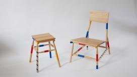 """丰富多彩的家具-灵感来自于他在远东和西方国家的经验,设计师想把两者结合在一起,以一种""""好玩""""的方式展示文化交叉点"""