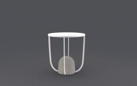 重量的设计理念-边桌-侧表的稳定性来自于雕刻石作