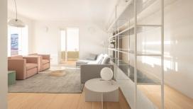 RAR工作室翻新的公寓-一个更加宽敞的内部空间。