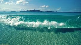 高清晰潮水浪花壁纸