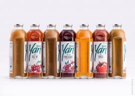 配有独特的状灵感来自叮咬的苹果的果汁瓶-独特而新鲜的果汁包装