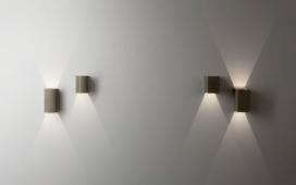 简单微妙的低调壁灯-中性色调的几何图形,旨在为现代建筑提供一种灵活的照明解决方案,融合到了天花板,给予了无眩光照明