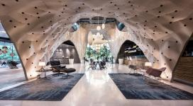 新加坡2017年世界室内装饰大师Herman Miller胶合板馆