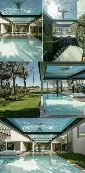 葡萄牙空中游泳池的家
