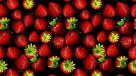 高清晰红色草莓水果写真壁纸