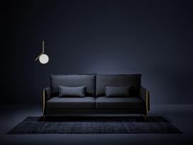 一种定制的沙发,感觉像手套,灵感来自英语的剪裁