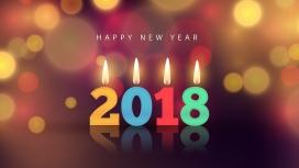 高清晰2018蜡烛字壁纸