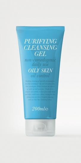 清洁油性皮肤的精美包装