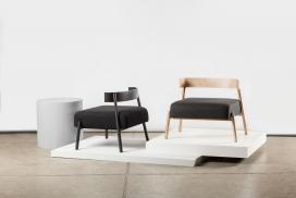 一个未被发现的设计师在那儿完成他们的工作平台,首次在今年的室内设计展现休闲椅