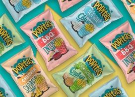 一个休闲薯条食品品牌Popitas-灵感来自童年漫画和流行艺术