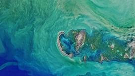 高清晰俯拍北里海海洋国家公园壁纸