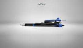快速和流畅的-Faber-Castell钢笔办公文具平面设计