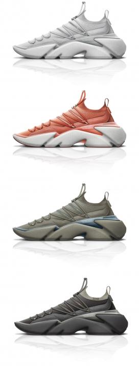 概念色彩运动鞋