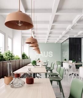 PAUS OFFICE-斯德哥尔摩的办公室,有不同的工作空间,展厅和小厨房以及午餐区