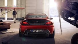 高清晰红色宝马Z4汽车尾部壁纸