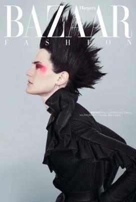 简・莫斯利-Harper Bazaar德国-浪漫朋克风时装秀