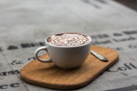 高清晰温馨的拉花咖啡下午茶壁纸