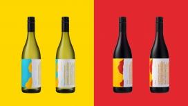澳大利亚彩色标签的版本葡萄酒