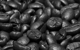 高清晰超黑咖啡豆写真壁纸