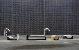 俏皮的玻璃纤维平躺沙发-探索了形状和平衡之间的关系