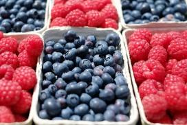 高清晰红色草莓蓝莓桑葚水果壁纸