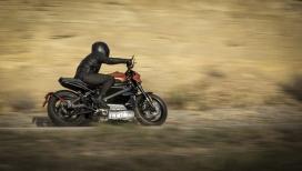 哈雷戴维森首次亮相的电动摩托车