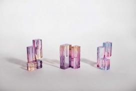 亚克力水晶花瓶系列-灵感来自于晚上湖泊中的灯光