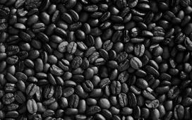高清晰黑色咖啡豆壁纸