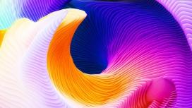 高清晰旋转扭曲的3D彩色渐变图