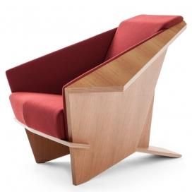 Taliesin几何扶手椅-是美国建筑师为自己的家设计的,28年来首次投入生产的凳子
