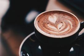 高清晰花瓣型咖啡壁纸