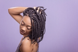 高清晰马尾辫非洲女人壁纸