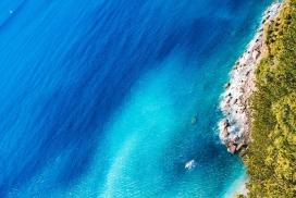 高清晰蓝色大海岛屿壁纸