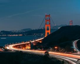 高清晰高架桥车流夜景壁纸