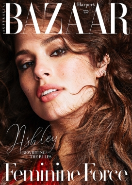 艾什莉・格林汉姆-Harper Bazaar澳大利亚,量身定制性感的剪裁,既有实用又有女人味的细节