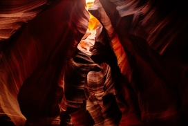 唯美通透的丹霞洞穴内部美景