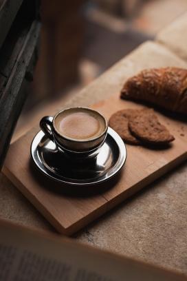 美味惬意的咖啡下午茶