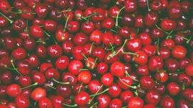 高清晰新鲜的红色车厘子樱桃壁纸