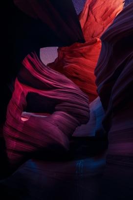 唯美彩色的丹霞山脉