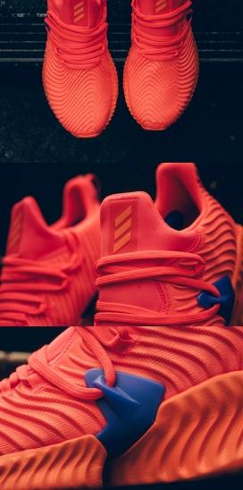 让我们花点时间欣赏珊瑚色Alphabounce运动鞋