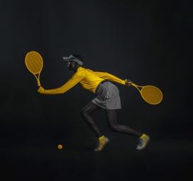 SHPORT-黄颜色的运动肖像