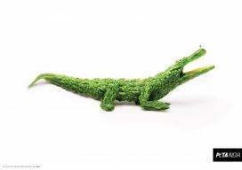 吃这个蔬菜,动物就不会受到伤害-善待动物组织保护动物公益广告